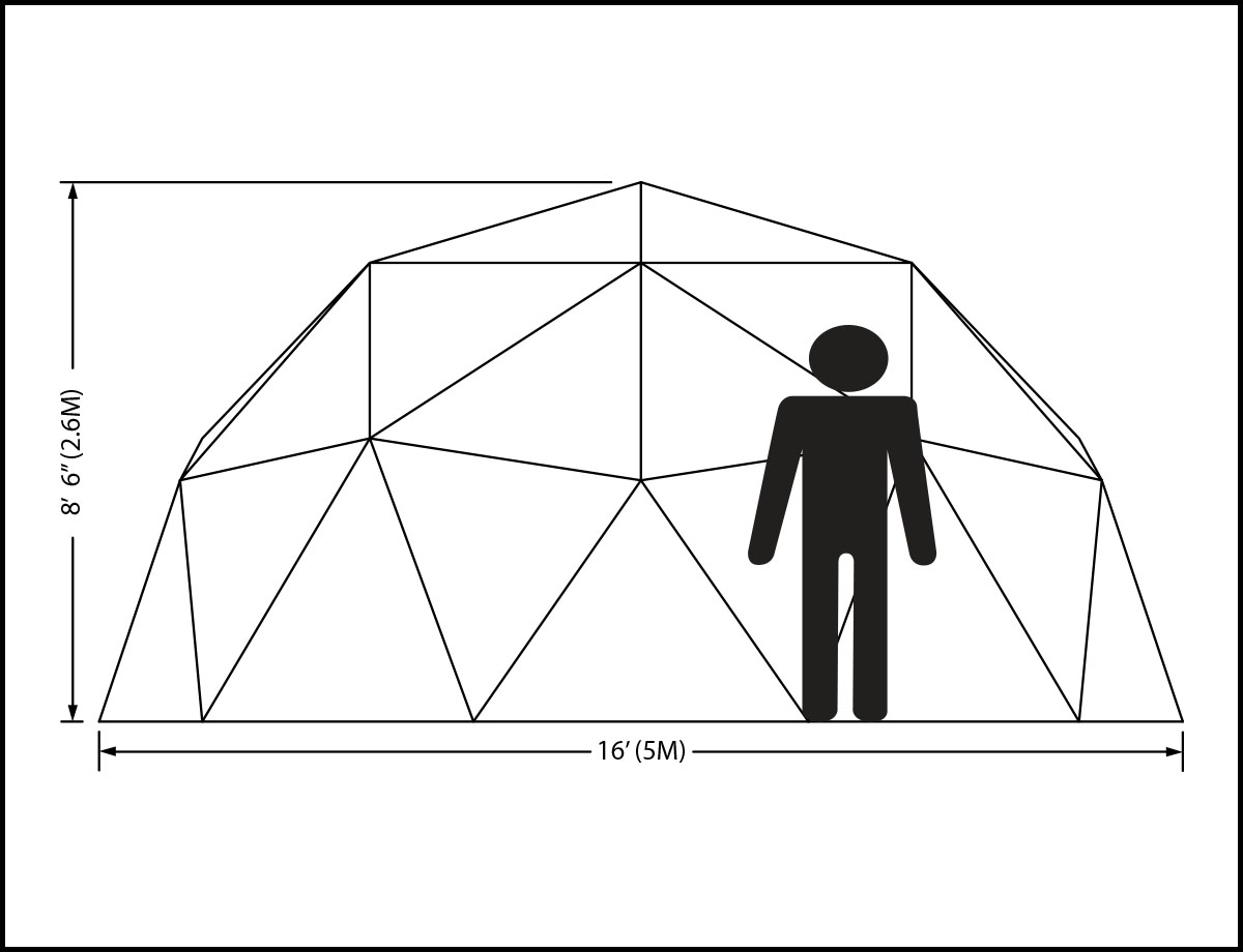16ft Dome Elevation
