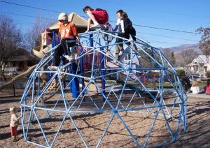 15ft Blue Playground Climbing Dome