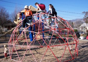 15ft Red Playground Climbing Dome