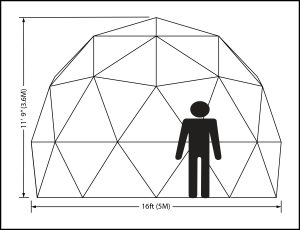 16ft T Dome Elevation