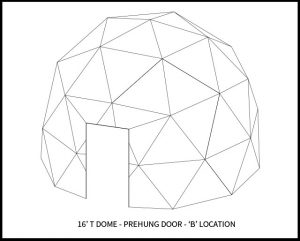 16ft T Dwell Dome - 'B' Door Location