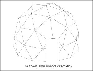 16ft T Dwell Dome - 'A' Door Location