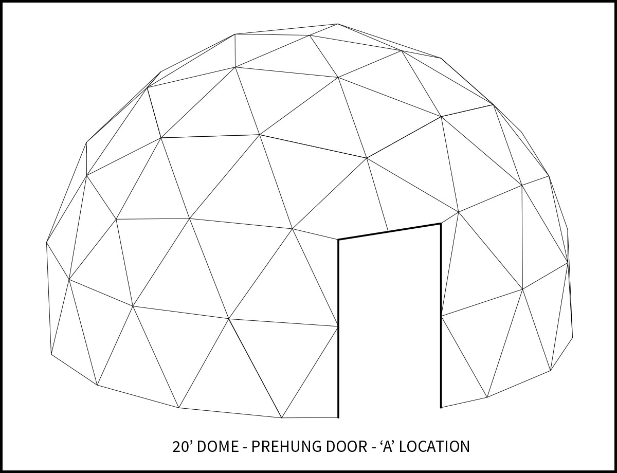 20ft Dwell Dome - 'A' Door Location