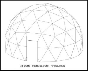 24ft Dwell Dome - 'B' Door Location