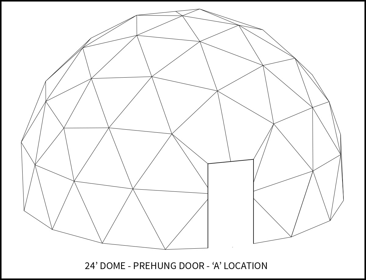 24ft Dwell Dome - 'A' Door Location