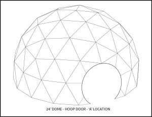 24ft Event Dome - 'A' Door Location