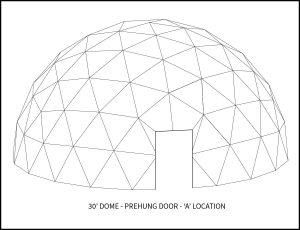 30ft Dwell Dome - 'A' Door Location
