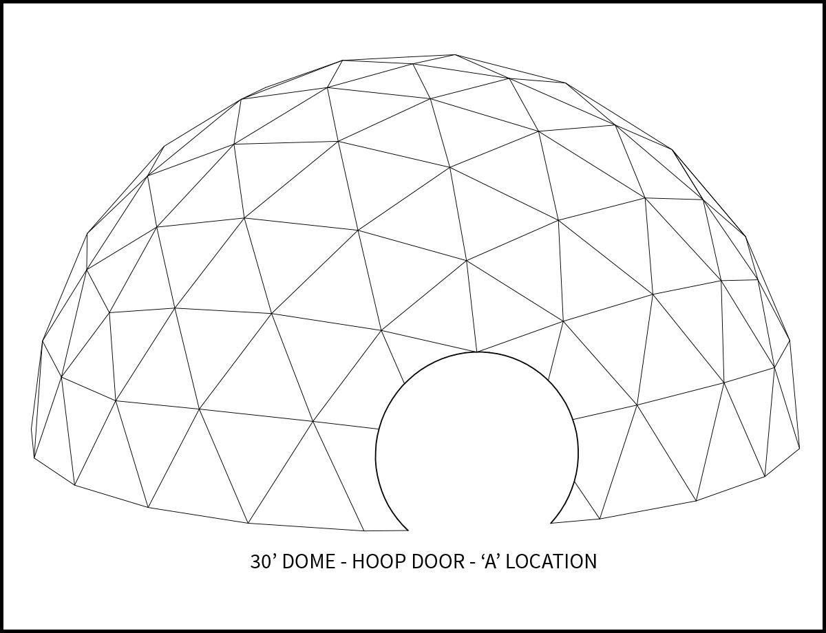 30ft Event Dome - 'A' Door Location