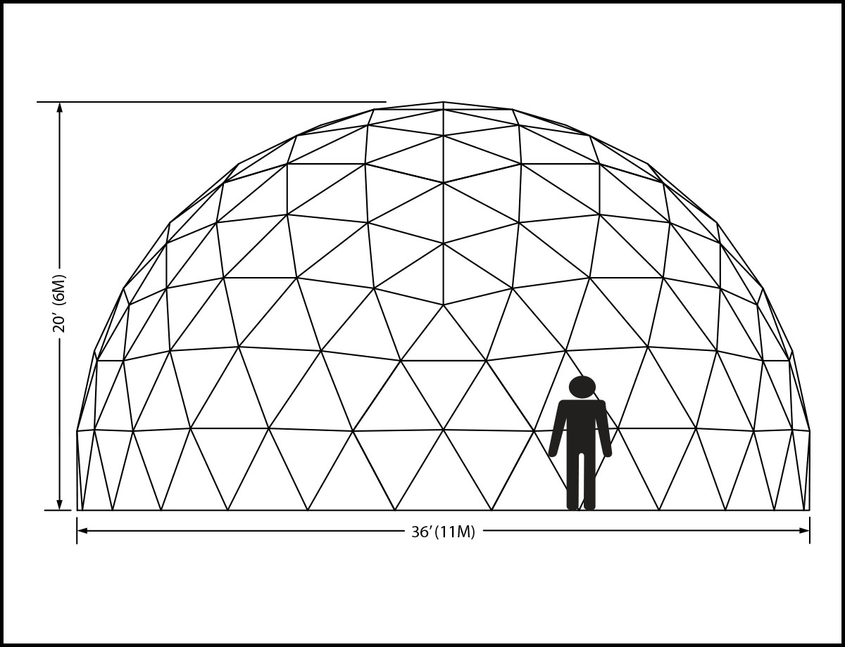 36ft Dome Elevation