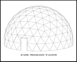 36ft Dwell Dome - 'B' Door Location