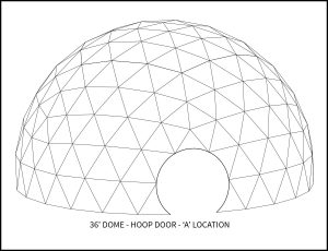 36ft Event Dome - 'A' Door Location