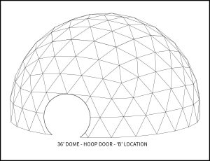 36ft Event Dome - 'B' Door Location