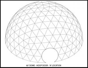 60ft Event Dome - 'B' Door Locations