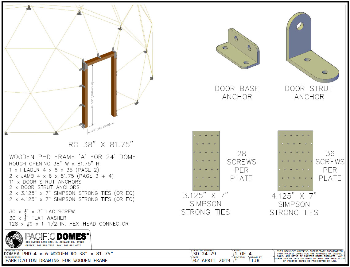 Dome Pre-hung Door Diagram